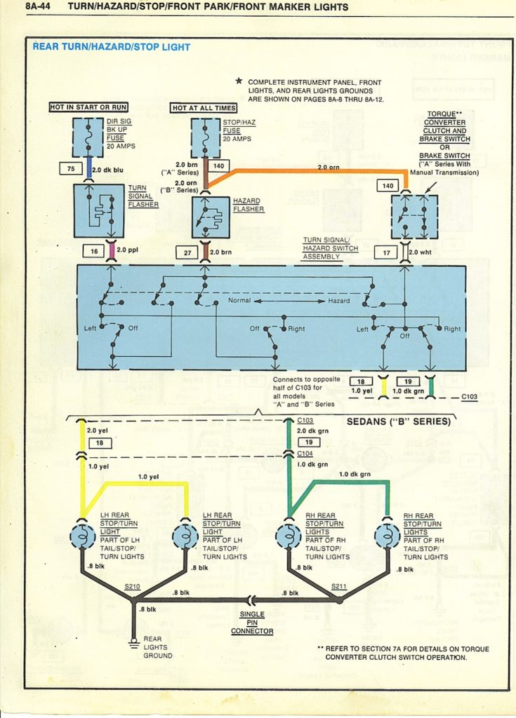 79 malibu tail light wiring diagram a g body wiring diagrams  a g body wiring diagrams